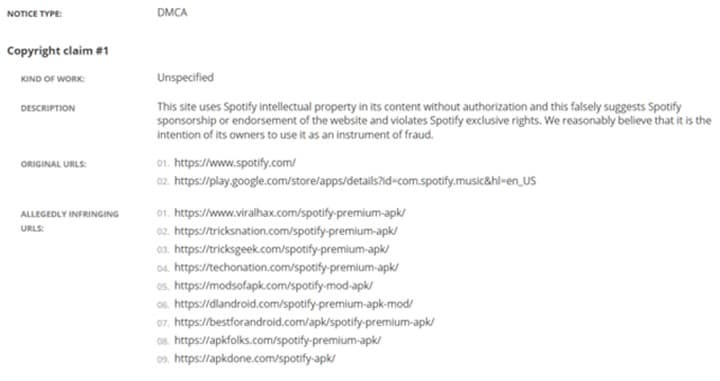 Imagem sites com hack para Spotify Premium