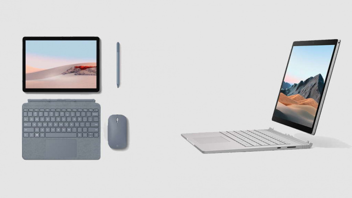 Microsoft Surface Go 2 Surface Book 3 processadores computadores