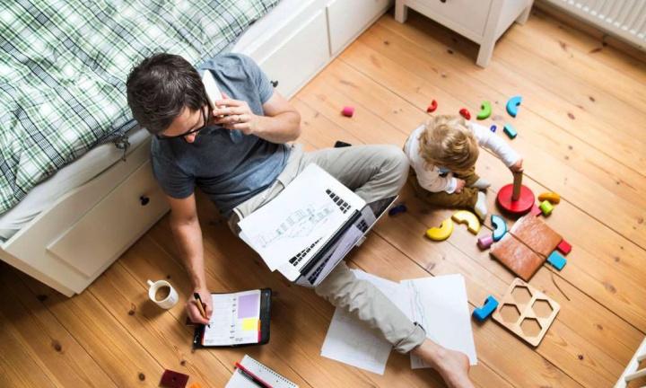 ¿Te quedarás en casa con tu hijo?  ¿Es esta la declaración para solicitar apoyo financiero?