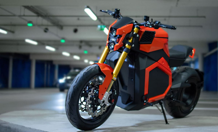 Image Verge TS the electric motorcycle with the engine on the rear wheel