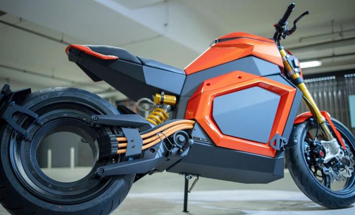 Imagem Verge TS a moto elétrica com o motor na roda traseira
