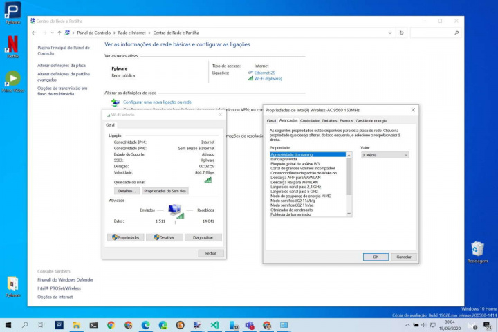Windows 10 desligar WiFi rede cabo