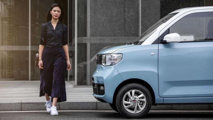 Imagem do carro elétrico Wuling Hongguang MINI já à venda na China