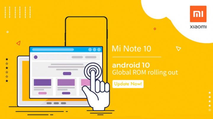 Mi Note 10 Xiaomi Android 10 MIUI 11 atualização