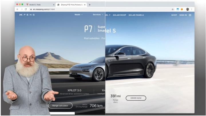 Xpeng: A empresa chinesa que até o site da Tesla copiou...