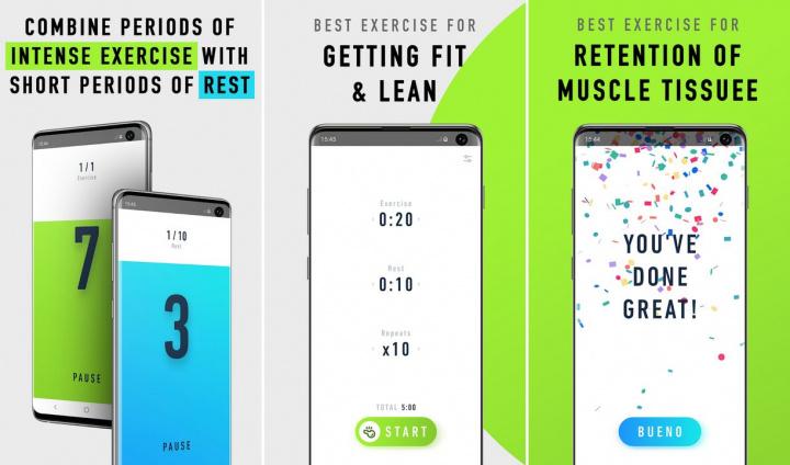 5 apps Android para passar melhor o tempo dentro de casa - Workout Timer - Temporizador HIIT e Tabata