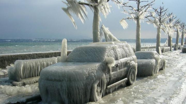 Imagem do frio extremo