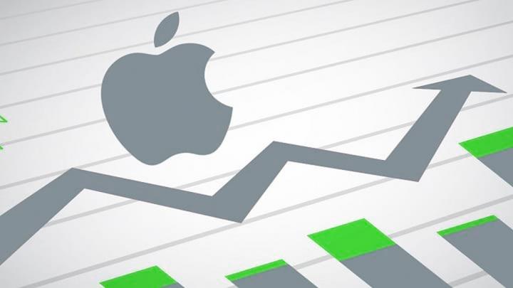 Ilustração ações Apple que bateram recordes