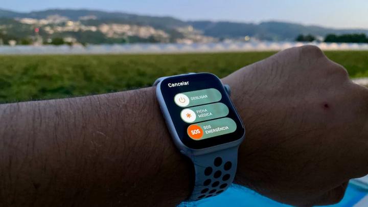 imagem sistema de socorro do Apple Watch