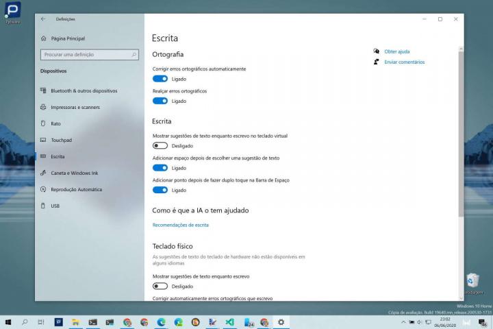 Chrome Windows Microsoft corretor ortográfico