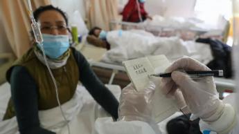 Imagem hospital em Huwan na China a tratar o novo coronavírus