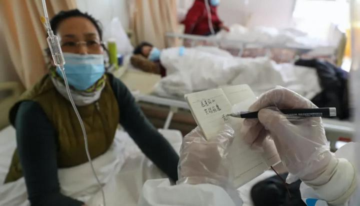 Imagem hospital em Wuhan na China a tratar o novo coronavírus que provoca a COVID-19