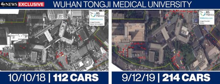 Imagem hospitais na China indiciam surto do coronavírus em setembro