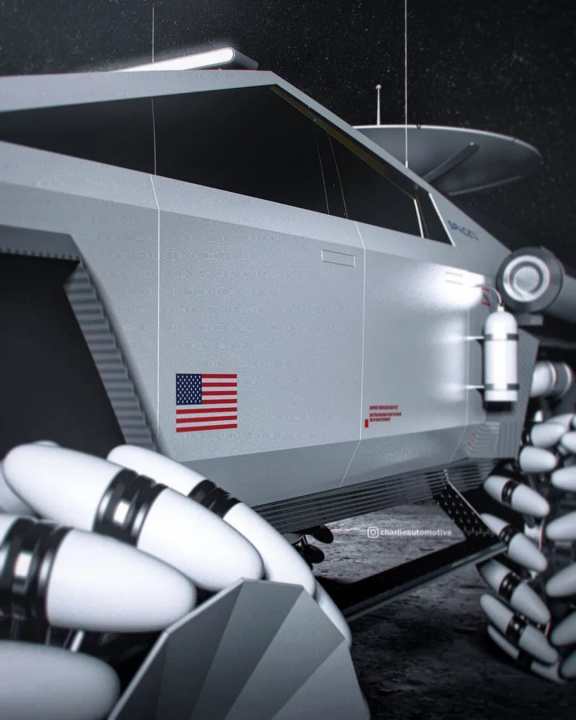 Imagem veículo elétrico Tesla Cybertruck lunar