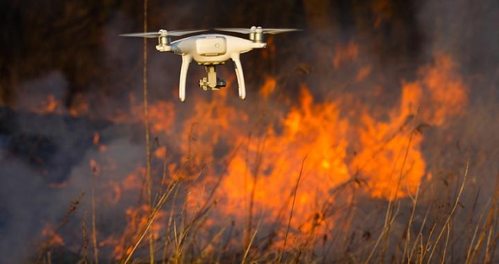 drones de vigilância de incêncios