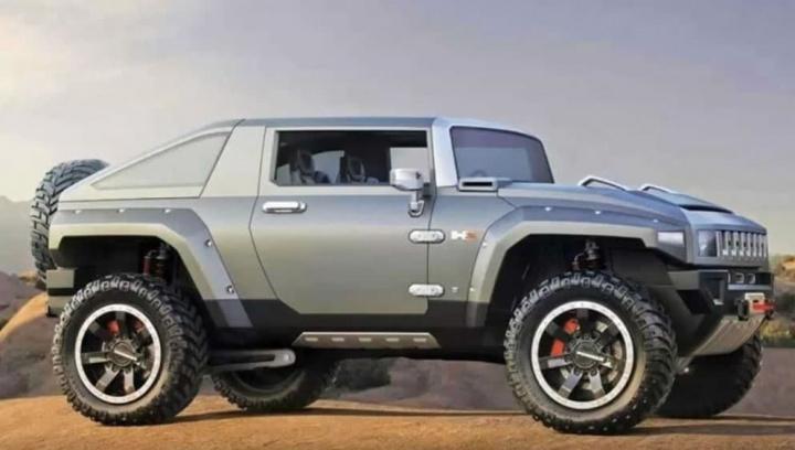 Imagem do Hummer que é será a grande aposta da GM para o segmento dos SUVs elétricos