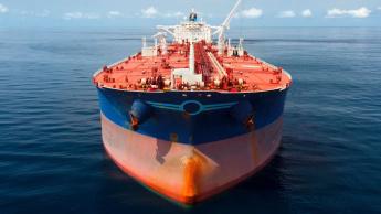 Imagem petroleiro que ficou confuso com o GPS a mandar navegar em círculos