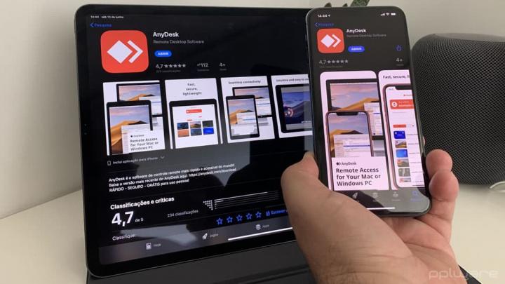 Imagem dica para usar AnyDesk para acesso remoto ao iPhone ou iPad