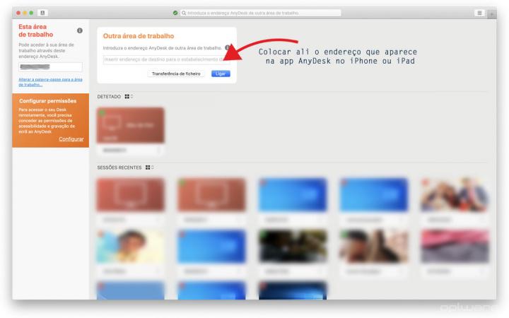Imagem dica para usar AnyDesk para acesso remoto ao iPhone ou iPad via computador