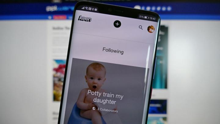 Imagem Keen da Google a correr num android