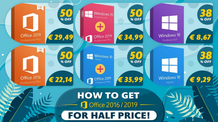 Digital keys for software like Windows 10 or Office 19? Everything is half done ...