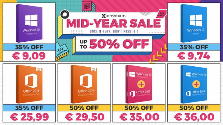 Meet the biggest discounts of the semester for digital keys: Games, Windows and...