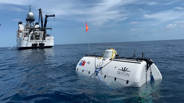 Imagem submarino que mergulhou nas profundezas da Terra até à Challenger Deep