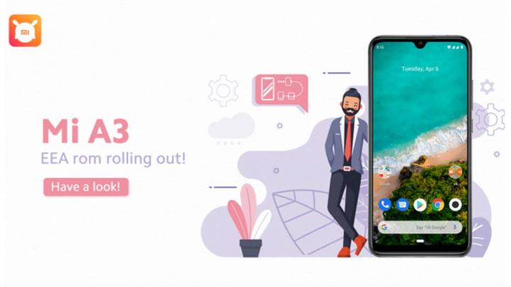 Xiaomi Mi A3 Mi A2 atualizações Google