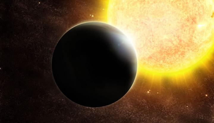 Ilustração de planetas parecidos com a Terra no meio de milhões de estrelas