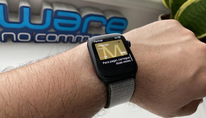 Imagem do cartão Millennium BCP no Apple Watch