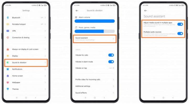 Xiaomi MIUI 12 som smartphones controlo