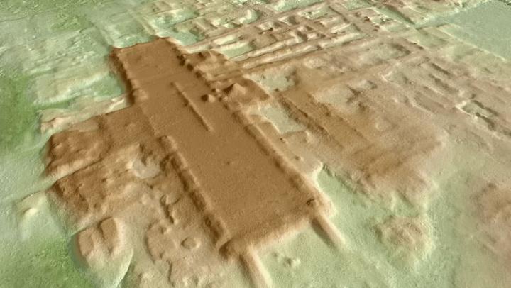 Imagem de LiDAR que descobriu monumento da civilização maia