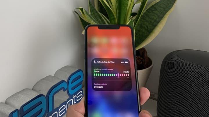 Imagem da nova função do iOS 14 da Apple para proteger a sua audição quando usa auscultadores