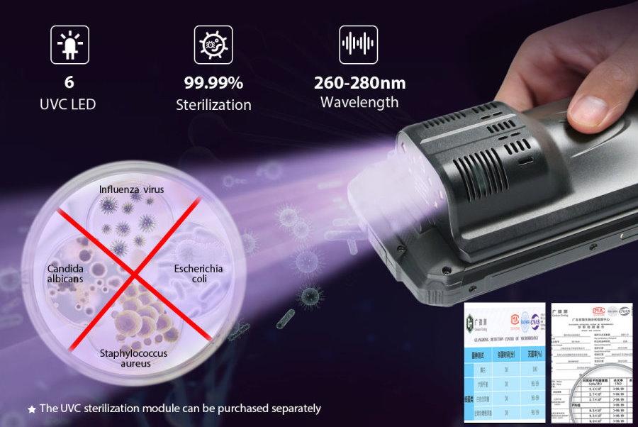 Oukitel WP7, o smartphone modular com câmara de visão noturna e esterilização UVC