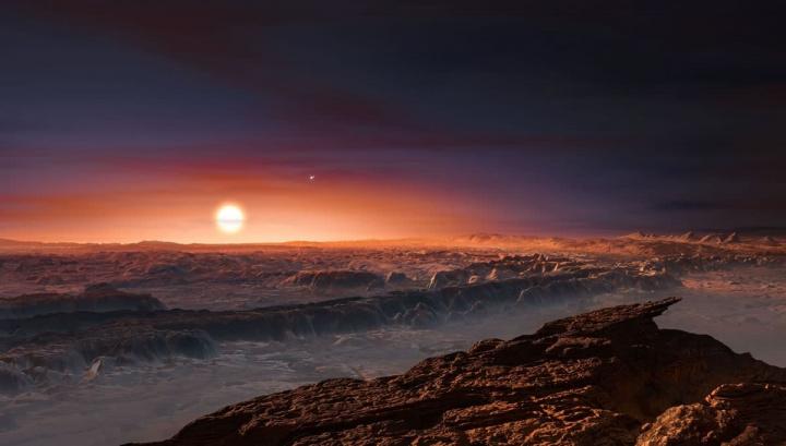 Ilustração do solo de KOI-456.04 a orbitar o seu seu, a estrela Kepler 160