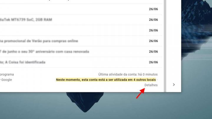 Gmail conta Google acesso aceder