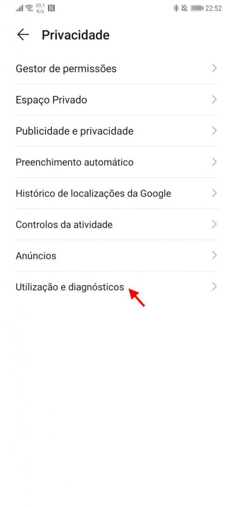 Android Google dados utilizadores enviar