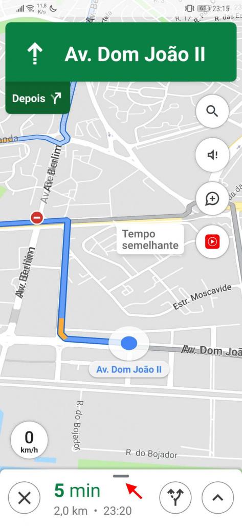 Google Maps viagem pontos condutor