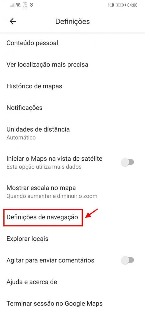 Google Maps voice user options