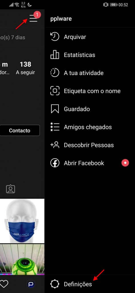 Instagram Dark Mode interface escuro novidade