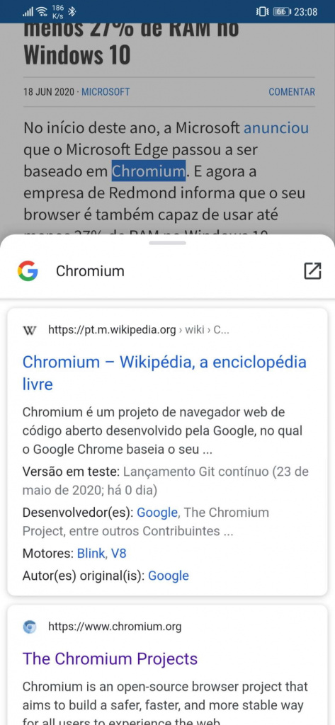 Chrome Android Google browser truques