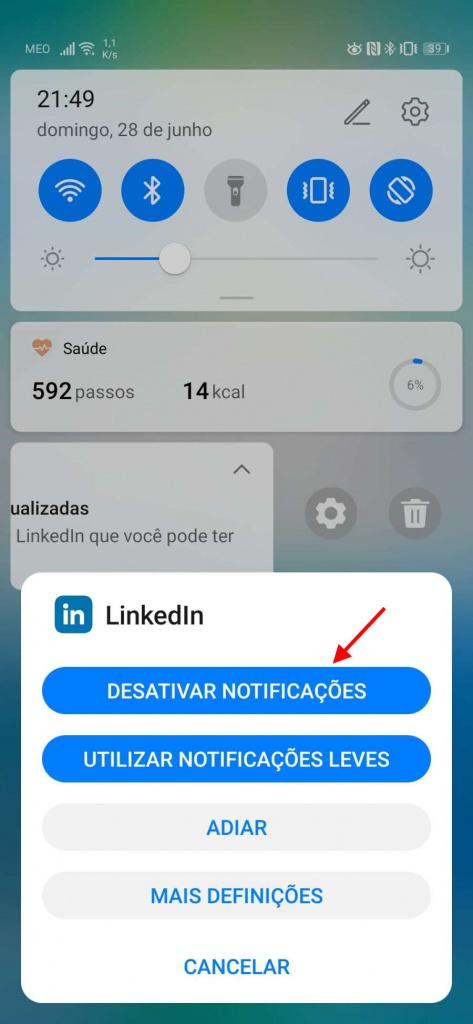 Publicidade Android notificações Google smartphones