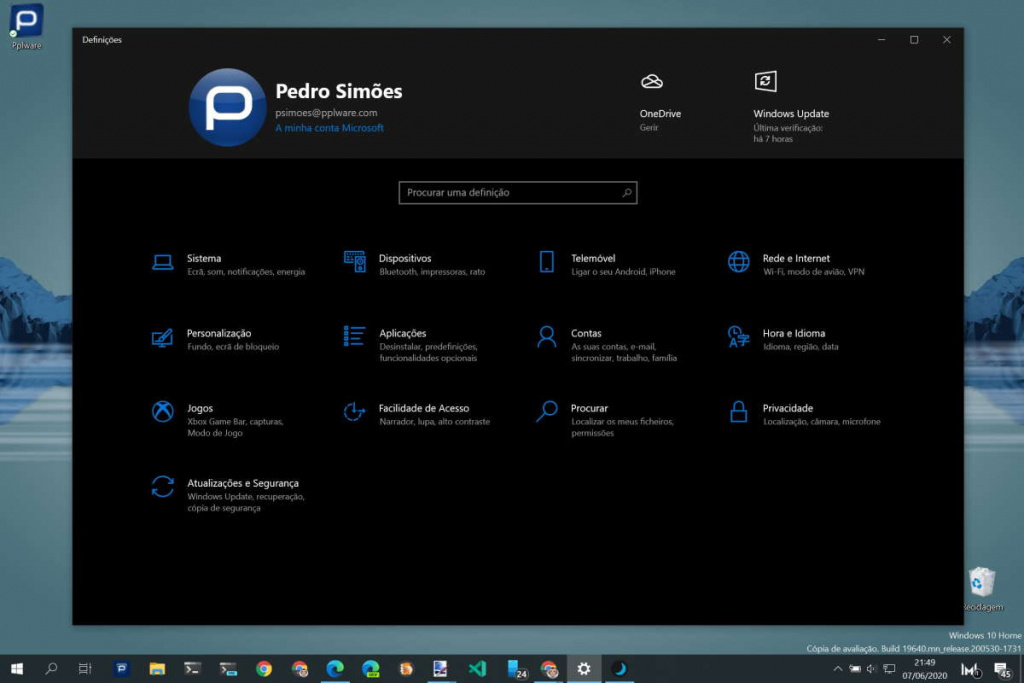 Dark Mode Windows 10 Luna automática ativar