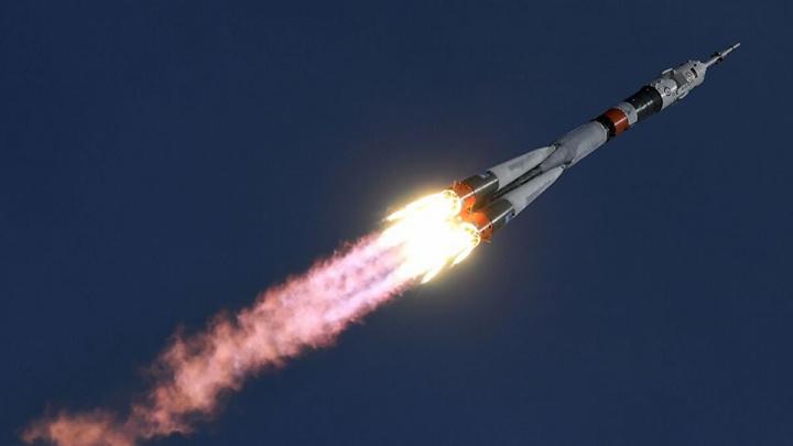 Imagem do foguetão foguete russo Soyuz que agora foi trocado pela NASA, agora entrou a SpaceX