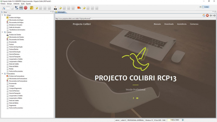 Imagem Projecto Colibri para a sua gestão empresarial