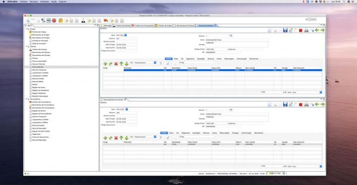 Imagem Projecto Colibri a correr em macOS