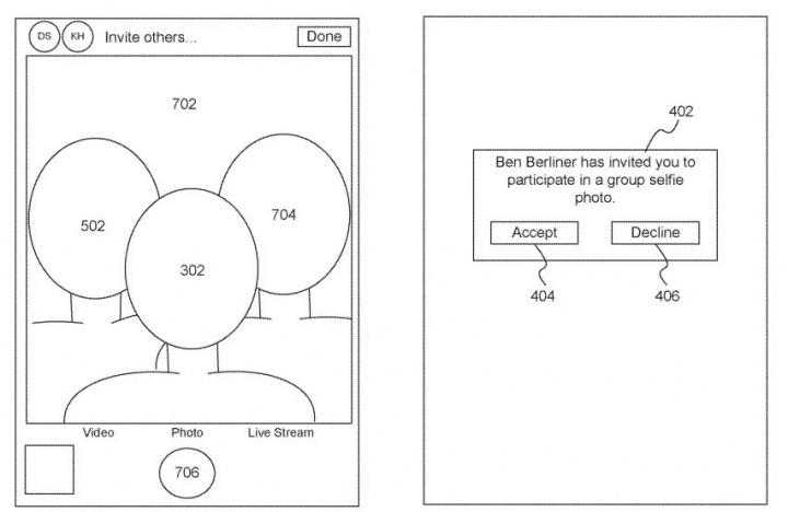 Imagem patente Apple para selfies em grupo remoto