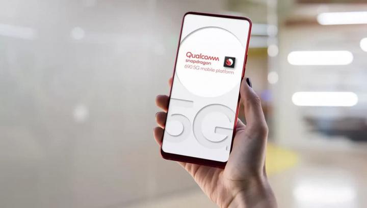 Imagem ilustração processador Snapdragon 690 5G da Qualcomm
