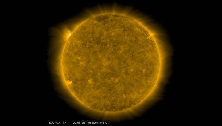 Imagem do Sol mais ativo no final de maio