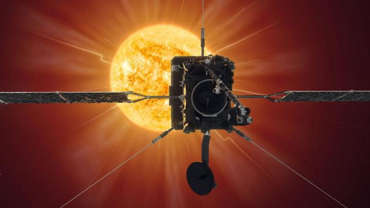 Imagem ilustração da sonda da ESA Solar Orbiter que está a caminho do Sol